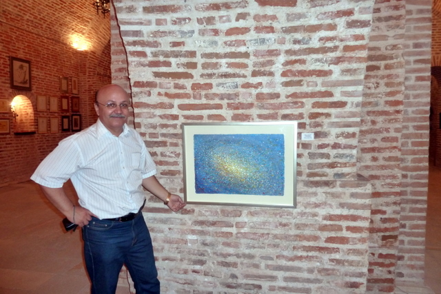 Tablou de Emil CIOCOIU si colectionarul, criticul de arta si scriitorul Marius TITA