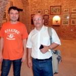 pictorul Florin GHERGU si colectionarul, criticul de arta si scriitorul Marius TITA